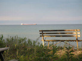 Watching The Freighter