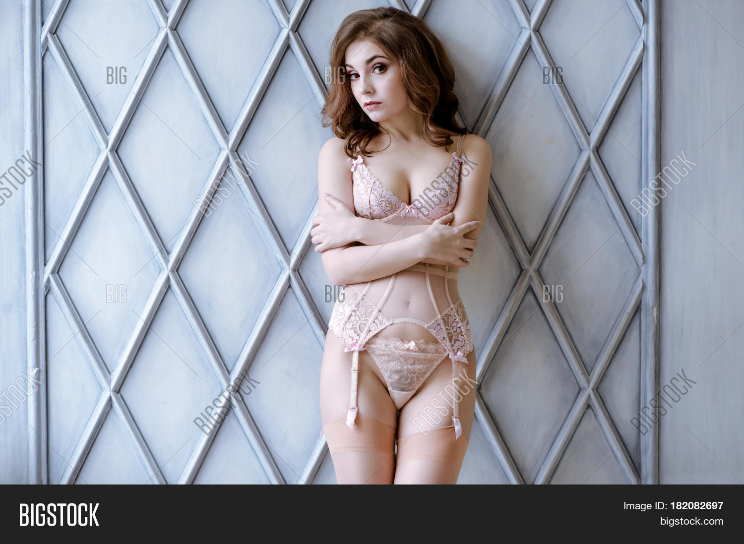 beautiful sexy lady elegant pink image & photo | bigstock