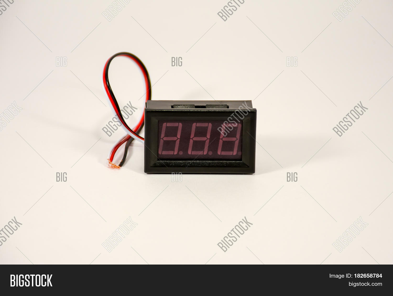 Small Digital Image Photo Free Trial Bigstock Wiring Voltmeter And Amp Meter A Indicator Is Ammeter With Colored Wires
