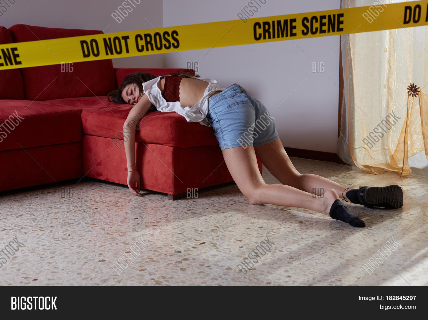 Crime Scene Simulation Image Amp Photo Free Trial Bigstock