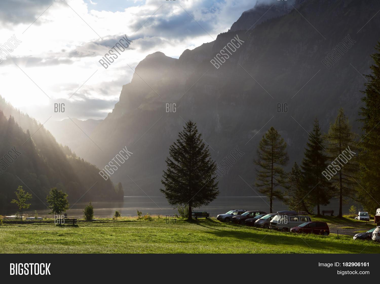 Foggy Morning Swiss Image Photo Free Trial Bigstock