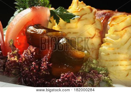 Meatloaf With Potatoes