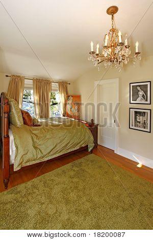 Green Antique Bedroom