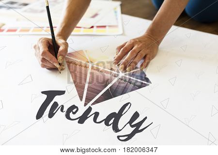 Trends Diamond Fashion New Word