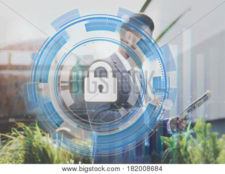 Network Security System Password Padlock Protection
