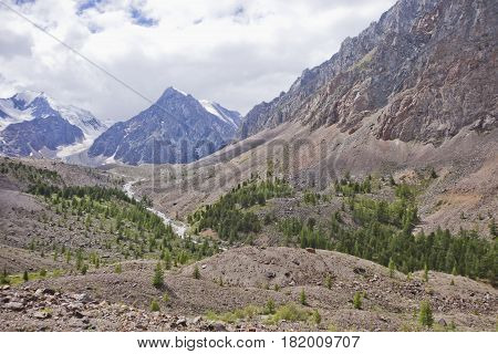 Aktru. Altai Mountains Landscape