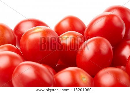 Ripe  fresh tomatoes on a white background. Harvesting.