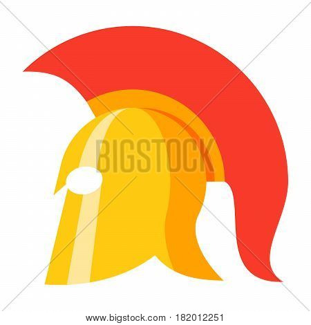 History concept with spartan helmet, vector illustration in flat style