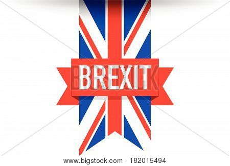 red and blue United kingdom brexit flag