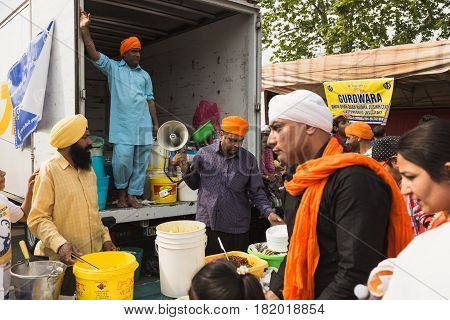 Sikhs Taking Part In The Vaisakhi Parade