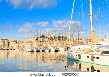 Harbor And Marina At Cannes, France
