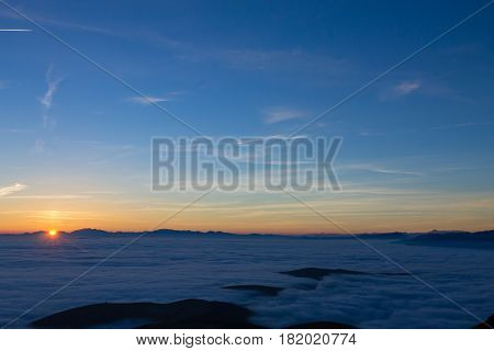 Carpet Of Clouds From Mountain Top