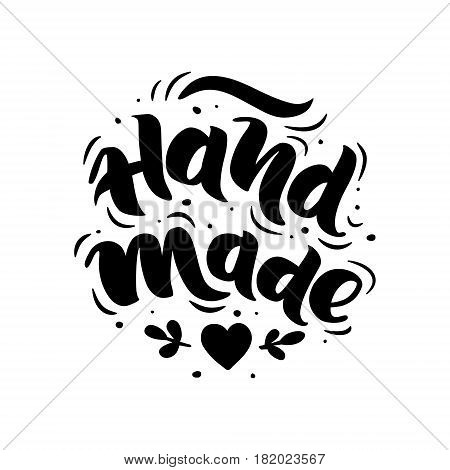 Hand made. Hand-drawn lettering. Stylish logo for your product shop etc.