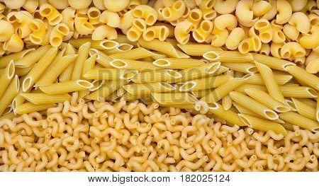 Three Types Of Pasta