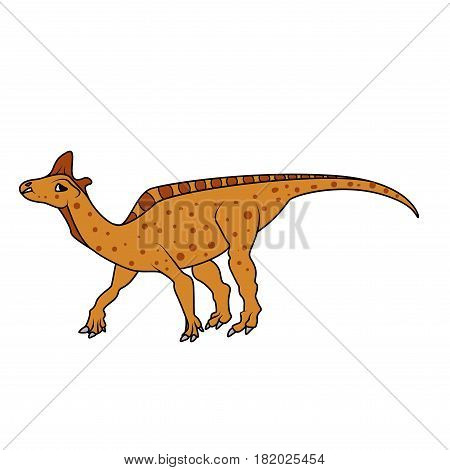 Vector Lambeosaurus dinosaur on a white background