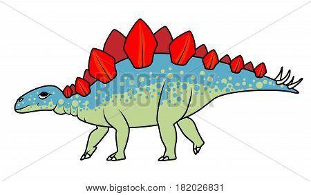 Vector Stegosaurus dinosaur on a white background
