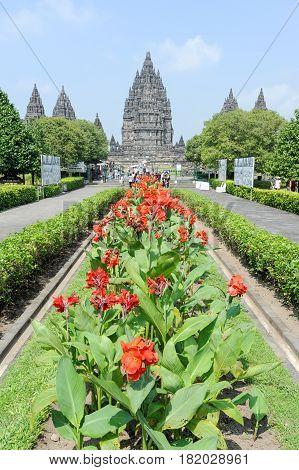 Prambanan Indonesia - 2 February 2013: Prambanan is a Hindu temple compound in Java on Indonesia Unesco world heritage