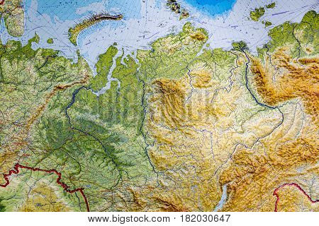 Part Of The Map Of Russia