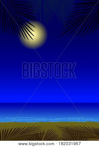 Beautiful seascape for summer holiday poster design.