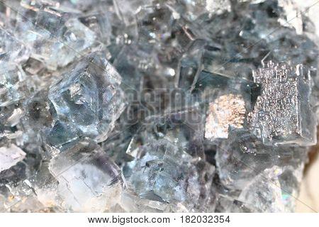 Blue Fluorite Mineral Background