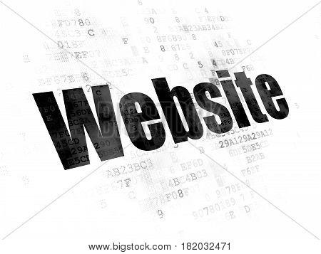 Web design concept: Pixelated black text Website on Digital background