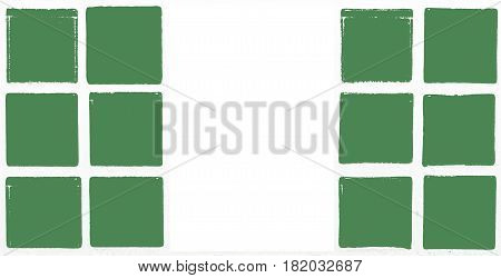 Glazed tiles nigeria flag square  mosaic  detail line
