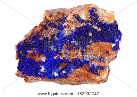Azurite Mineral Isolated