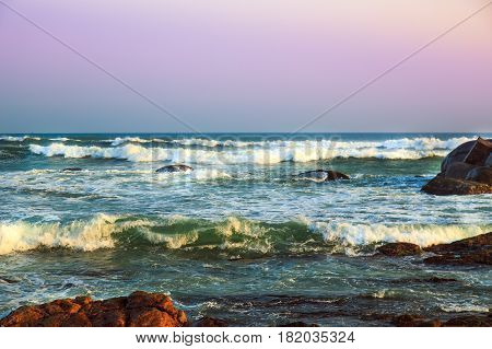 Waves Of The Indian Ocean.