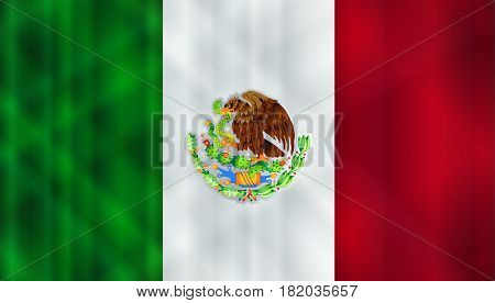 Flag of the South American country of Mexico