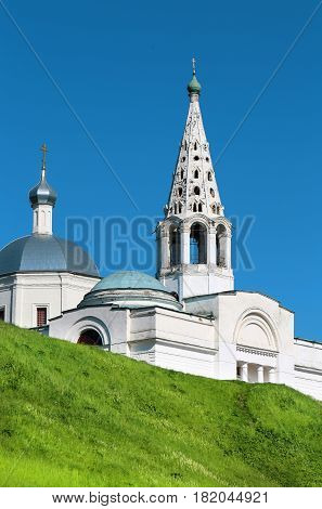 Beautiful Orthodox Church in Russia photographed in close-up