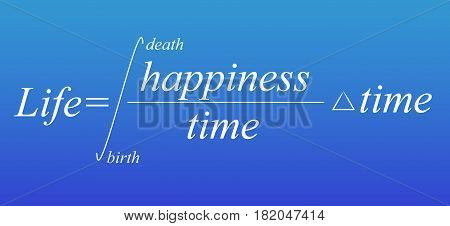 Mathematical formula of life. Conceptual theory. Vector illustration
