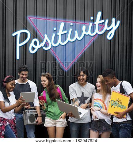 Positivity Optimistic Attitude Word