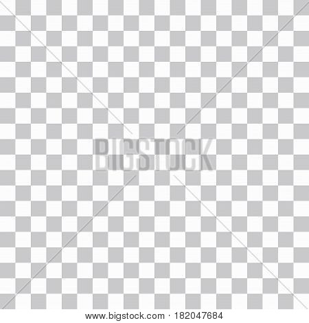 Seamless loopable abstract chess or png grid pattern background of gray squares on a white vector background