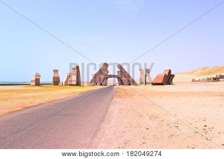 Entrance in the national park Ras Mohammed, Sinai, Egypt