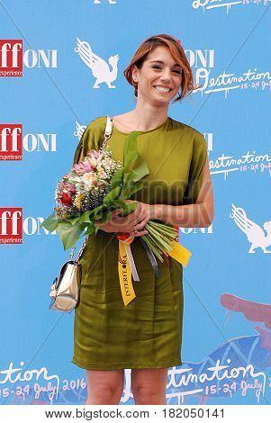 Giffoni Valle Piana Sa Italy - July 17 2016: Cristiana Dell'Anna at Giffoni Film Festival 2016 - on July 17 2016 in Giffoni Valle Piana Italy