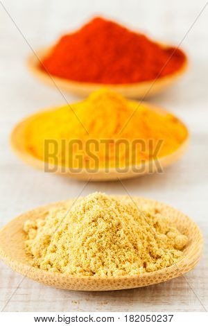Oriental mix of  dry spices on a table