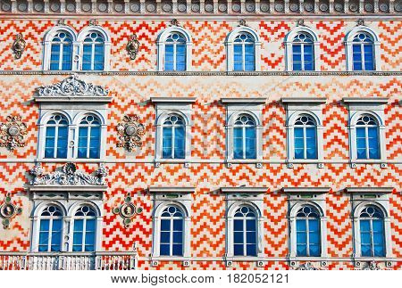 Facade Of An Old Traditional Building In Italy, Europe