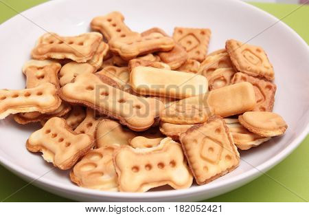 some cookies for dogs with tuna fish