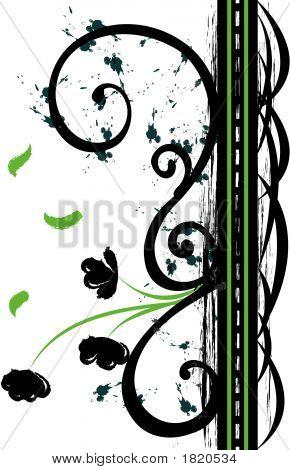 Iron And Flower Decorative Flourish