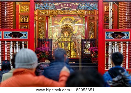Lungshan Temple Of Manka In Taiwan