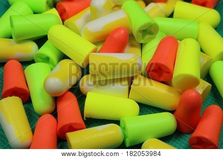 Protective ear plugs/ These are color protective ear plugs.