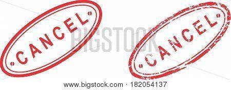 cancel  sticker stamp set in vector format