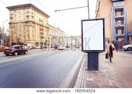 Empty  Blank Billboard,  Poster, Mock Up, At Street, For Your Logo, Product, Design, Presintation