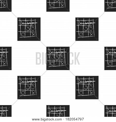 Tic-tac-toe icon in black style isolated on white background. Board games pattern vector illustration.