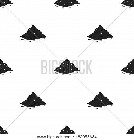 Cocain icon in black style isolated on white background. Drugs pattern vector illustration.