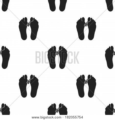 Corpse icon in black style isolated on white background. Drugs pattern vector illustration.