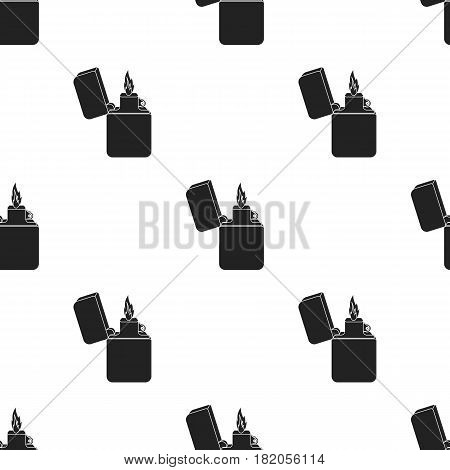 Lighter icon in black style isolated on white background. Light source pattern vector illustration