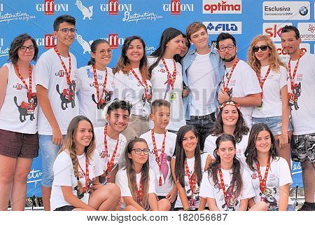 Giffoni Valle Piana Sa Italy - July 23 2016 : Dean Charles Chapman at Giffoni Film Festival 2016 - on July 23 2016 in Giffoni Valle Piana Italy