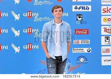 Giffoni Valle Piana Sa Italy - July 23 2016 : Dean Charles Chapman at Giffoni Film Festival 2016 - on July 23 2016 in Giffoni Valle Piana Italy