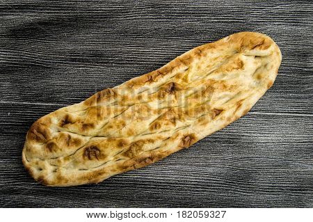 Famous egg turkey pide ready to eat at breakfast